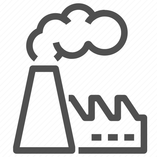 environment, factory, industrial, landfill, plant, pollution, recycling icon