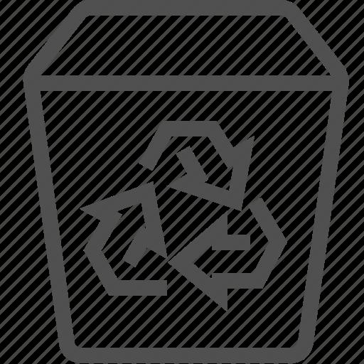 bin, disposal, environmental, recycle, rubbish, trash, waste icon
