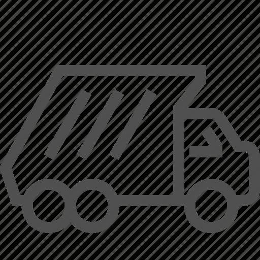 dump, garbage, landfill, service, truck, vehicle, waste icon