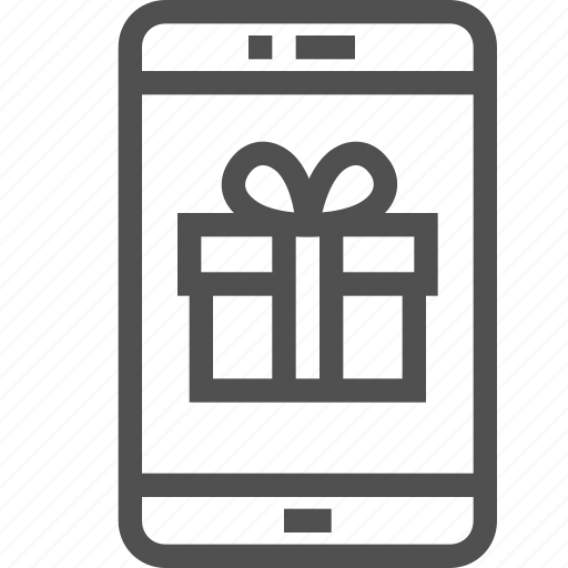 box, e-commerce, gift, holiday, mobile, online, present icon