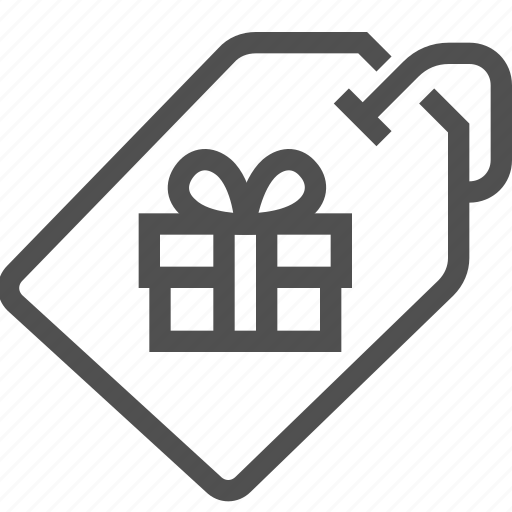 buy, card, gift, label, present, shopping, tag icon