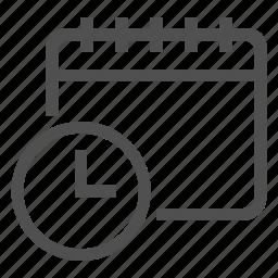 calendar, clock, time icon
