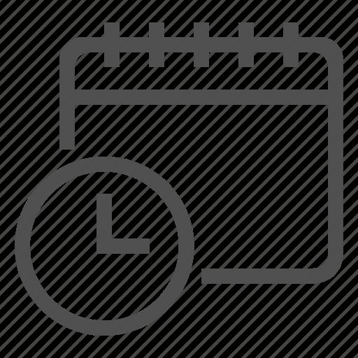 Calendar, clock, time icon - Download on Iconfinder