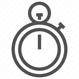 clock, stopwatch, time, timepiece, watch icon