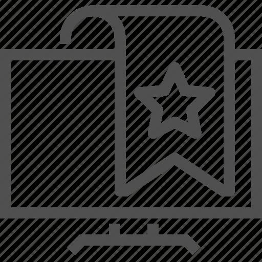 channel, display, favorites, marker, program, star, tv icon