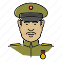 avatar, general, military, officer, people, profession icon