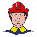 avatar, fireman, man, people, profession, rescue icon