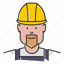 avatar, construction, hard hat, industrial, people, profession, worker icon