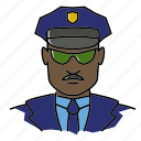 avatar, cop, officer, people, police, policeman, profession icon