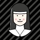 avatar, nun, people, profession, religion, woman icon