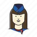 avatar, hostess, people, profession, stewardess, woman icon