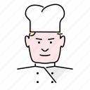 avatar, baker, chef, cook, man, people, profession icon