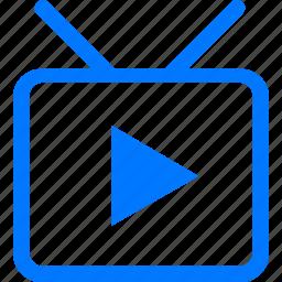 film, media, movie, play, tv, video, youtube icon