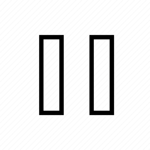 audio, media, music, pause icon