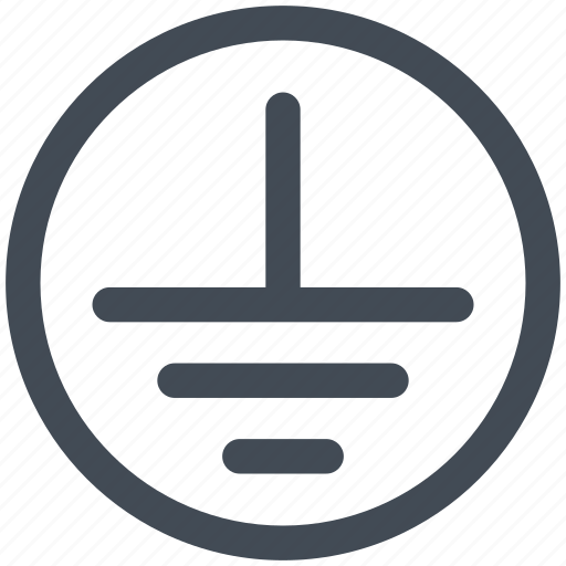 circuit, diagram, electric, electronic, ground connection icon