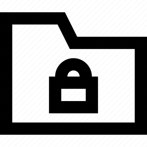 document, folder, lock, office, padlock icon