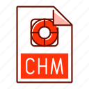 chm, document, extension, file, format icon