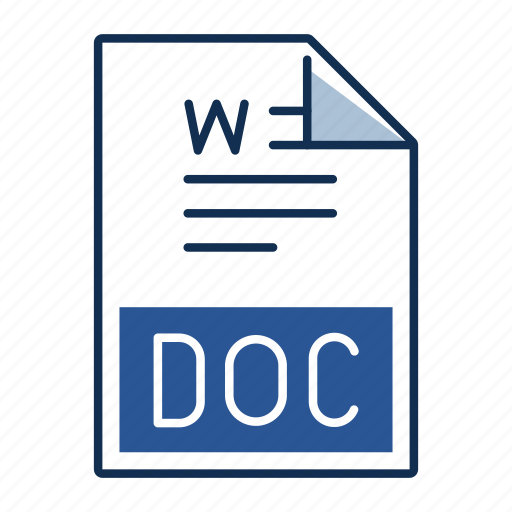 Doc, document, extension, file, format icon - Download on Iconfinder
