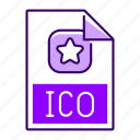 extension, file, format, ico icon