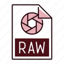 extension, file, format, raw icon