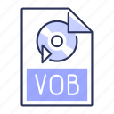 extension, file, format, vob icon