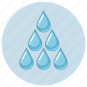 blue, drop, drops, luquid, rain, water icon