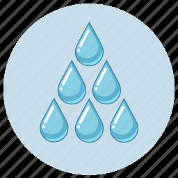 blue, drop, drops, luquid, rain, water icon