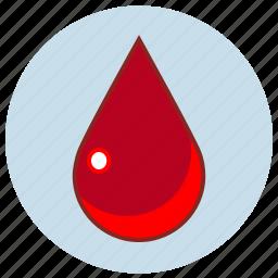 blood, death, drop, droplet, fluid, life, liquid icon