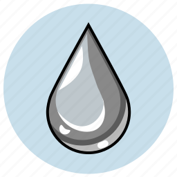 dangerous, drop, gray, mercury, metal, silver icon