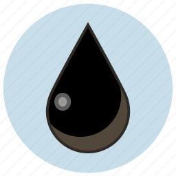 dark, disel, drop, dye, oil icon