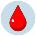 drop, liquid, red, rgb icon