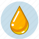 drop, gold, honey, oil, olive, sunflower icon
