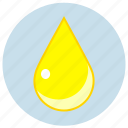 cmyk, drop, sunny, yellow icon