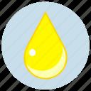 cmyk, drop, sunny, yellow icon