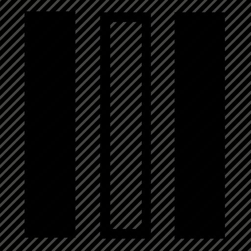 center, columns, list icon
