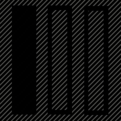 columns, left, list icon