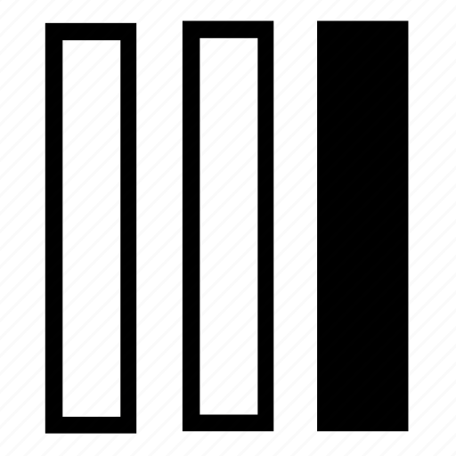 columns, list, right icon
