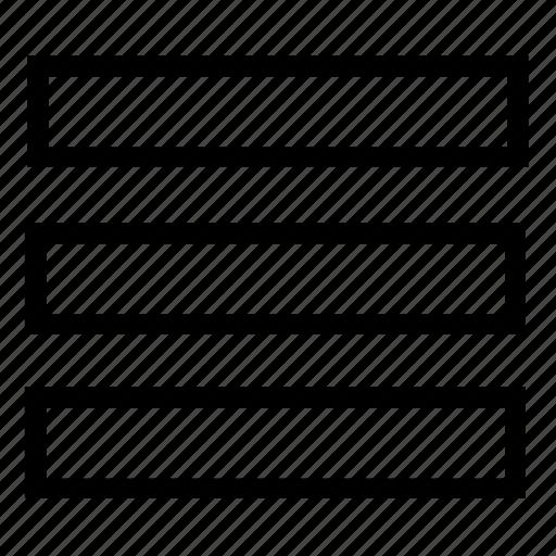 empty, list, rows icon