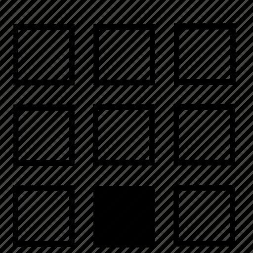 bottom, center, list icon