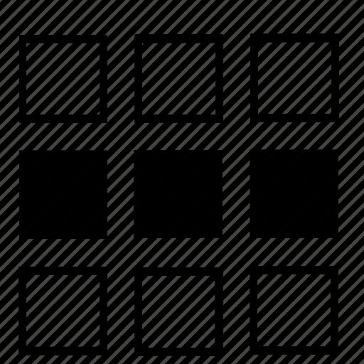center, list icon