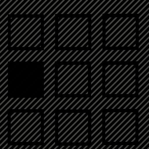 center, left, list icon