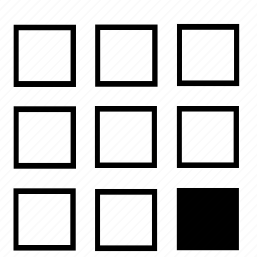 bottom, list, right icon