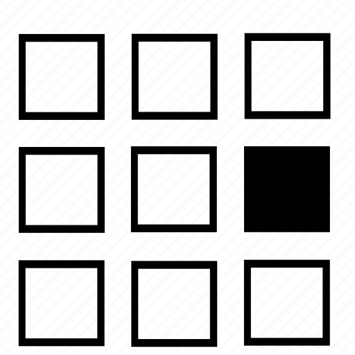 center, list, right icon