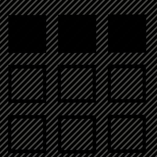 list, top icon