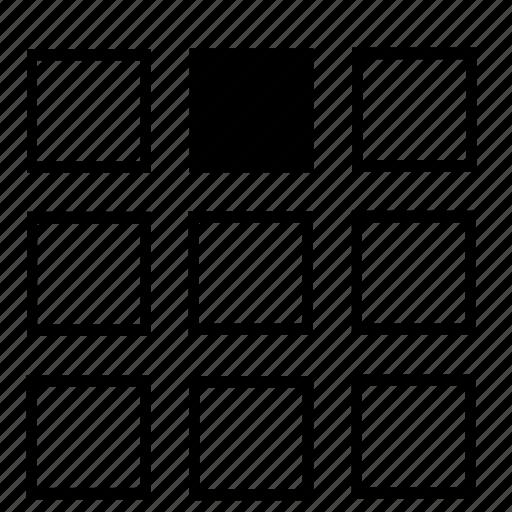 center, list, top icon
