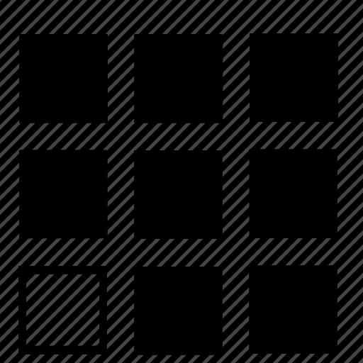bottom, left, list icon