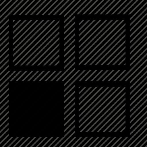 bottom, bottom-left, left, left-bottom, left-lower, list, lower-left icon