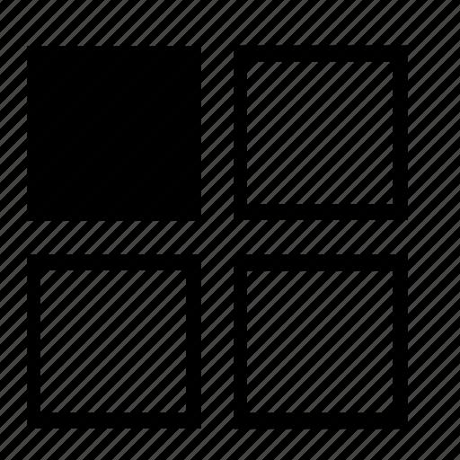 left, left-top, left-upper, list, top, top-left, upper-left icon