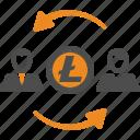 account, avatar, litecoin, transfer icon