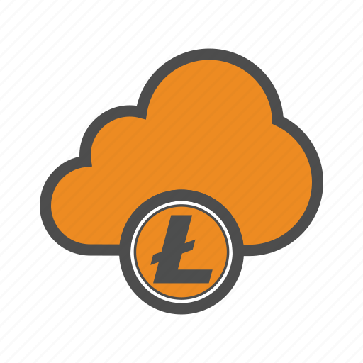 cloud, cryptocurrency, internet, litecoin icon